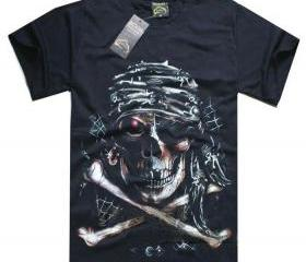 New black skull t-shirt