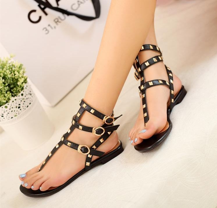 Handmade Elegant Casual Wear Flat Sandals On Luulla